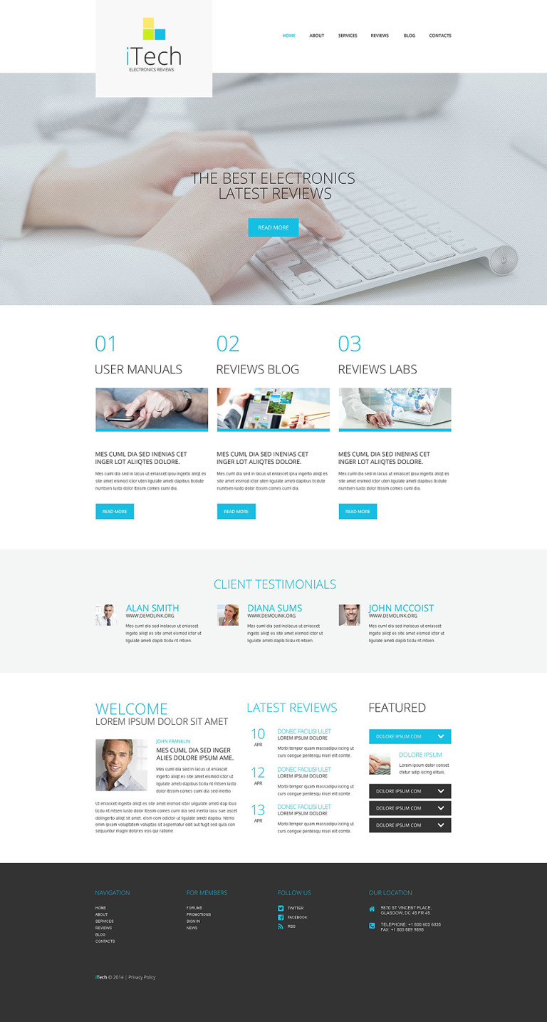 IT Responsive WordPress Theme New Screenshots BIG