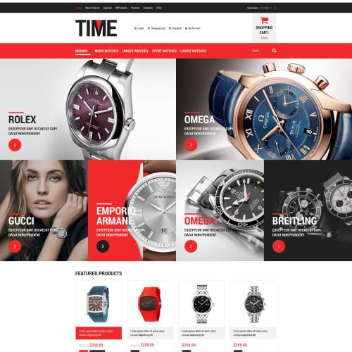 Time - HTML5 ZenCart Template