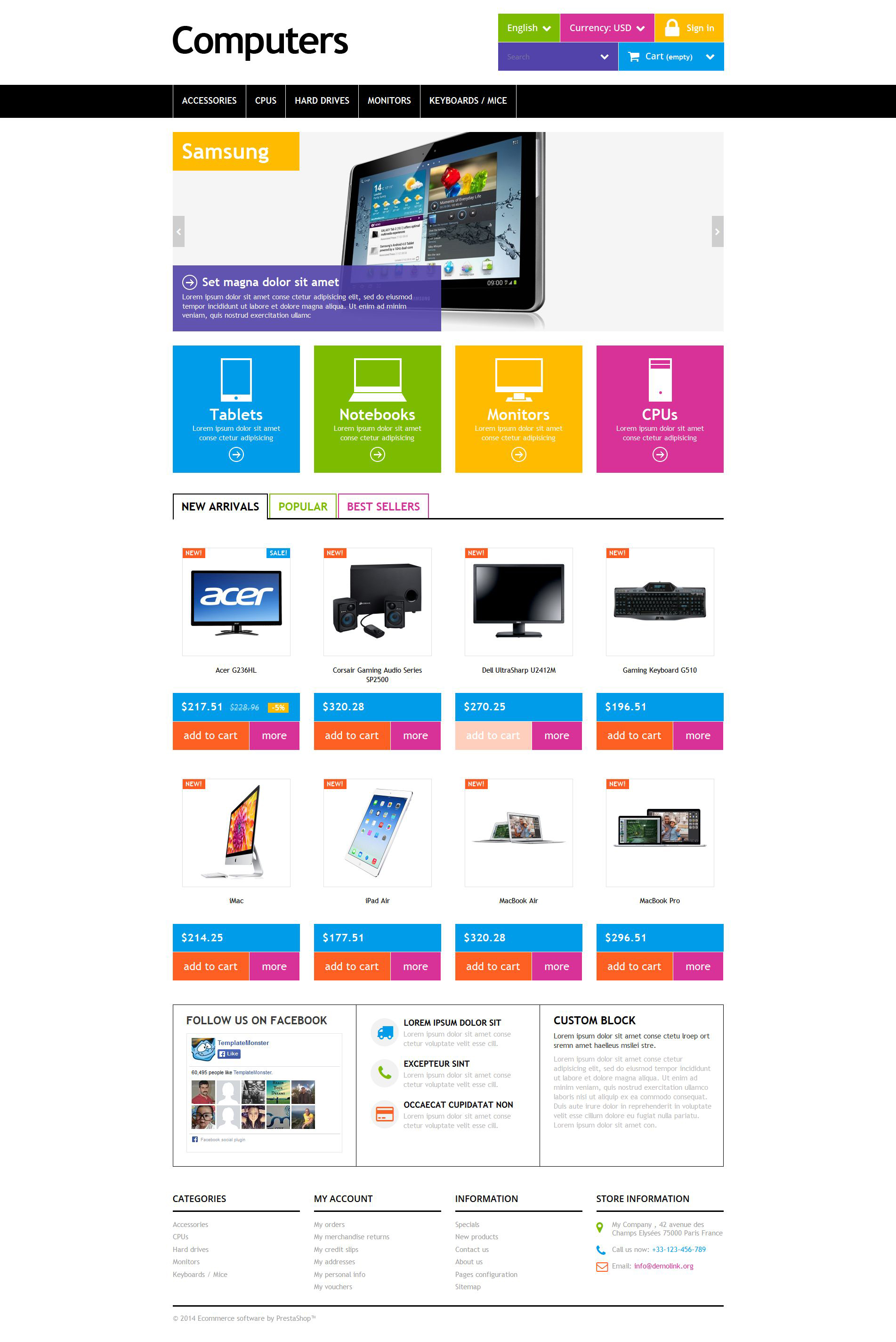 "Modello PrestaShop Responsive #52058 ""Computers"""