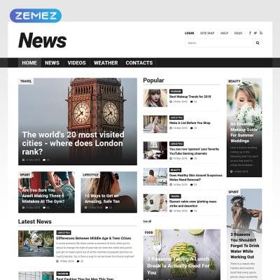 news portal templates templatemonster