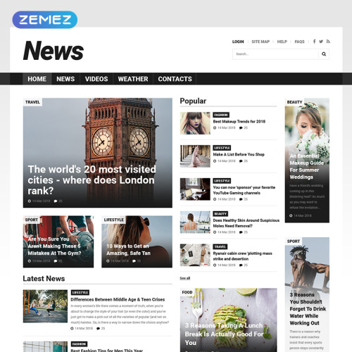 News - Joomla! Template based on Bootstrap