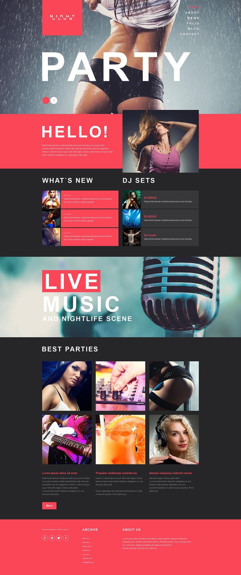 Night Club Muse Template New Screenshots BIG