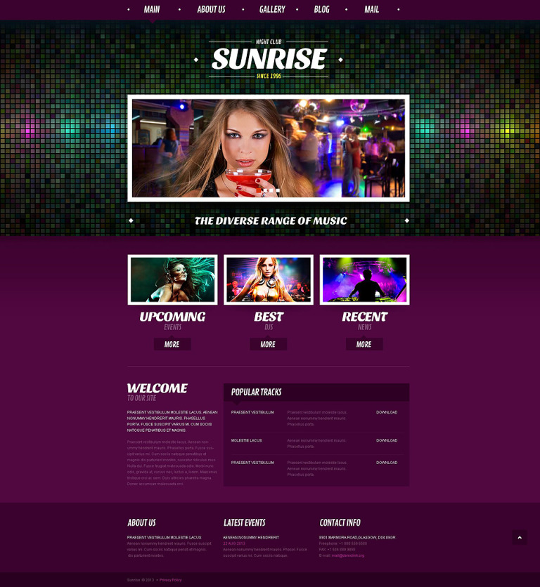 Night Club Responsive Joomla Template New Screenshots BIG