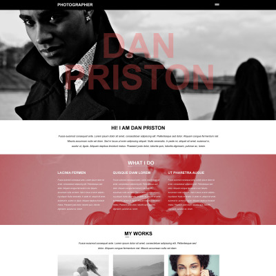 Photographer portfolio muse template 50840 pronofoot35fo Images