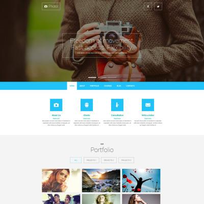 Responsive Plantilla Joomla #52026 para Sitio de  para Portafolios de fotógrafos
