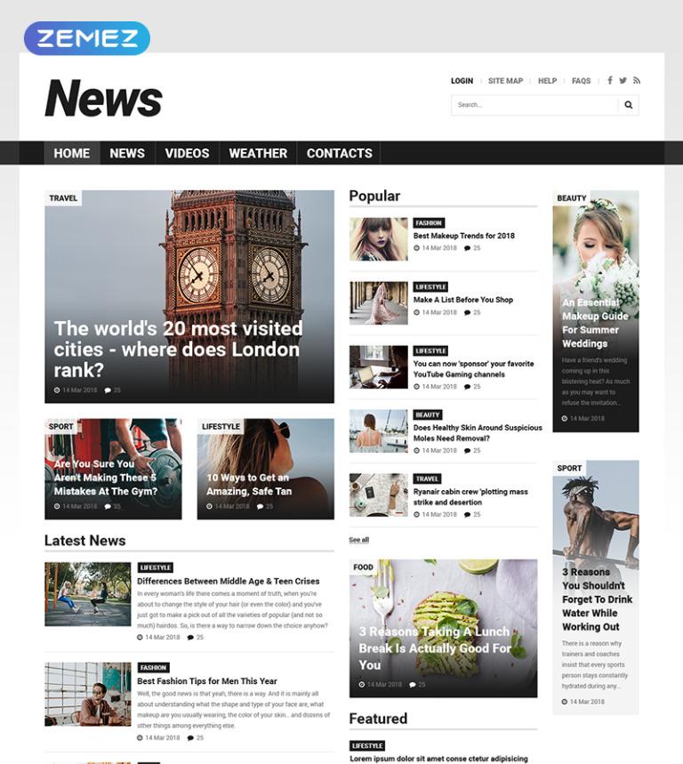 Plantilla Joomla #52025 para Sitio de Portal de Noticias
