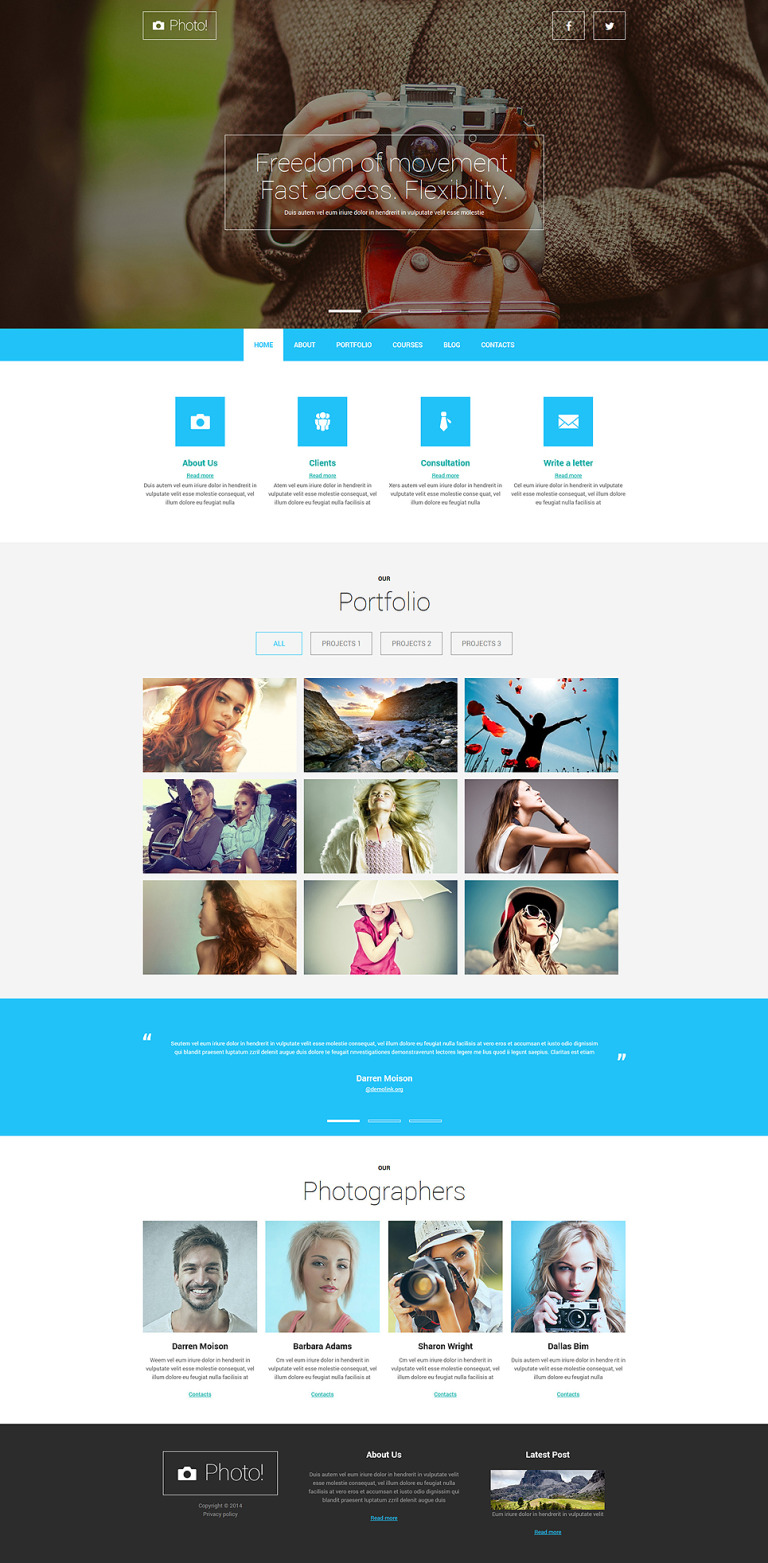 Professional Photography Joomla Template New Screenshots BIG