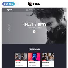 responsive radio website templates
