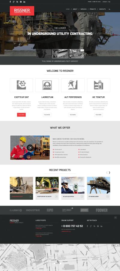 Industrial Responsive Web Sitesi Şablonu