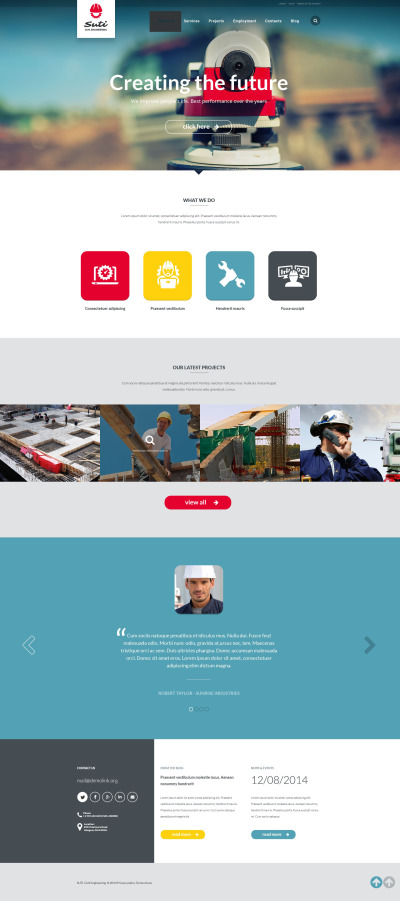 Civil Engineering Responsive Web Sitesi Şablonu