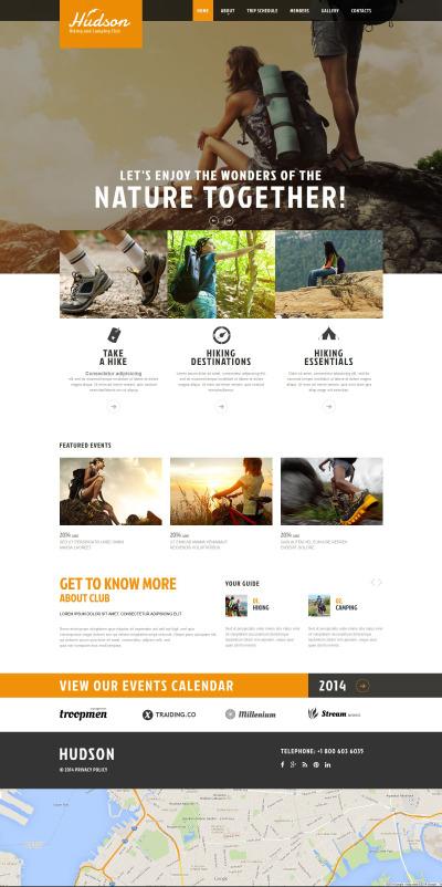 Hiking Responsive Website Template