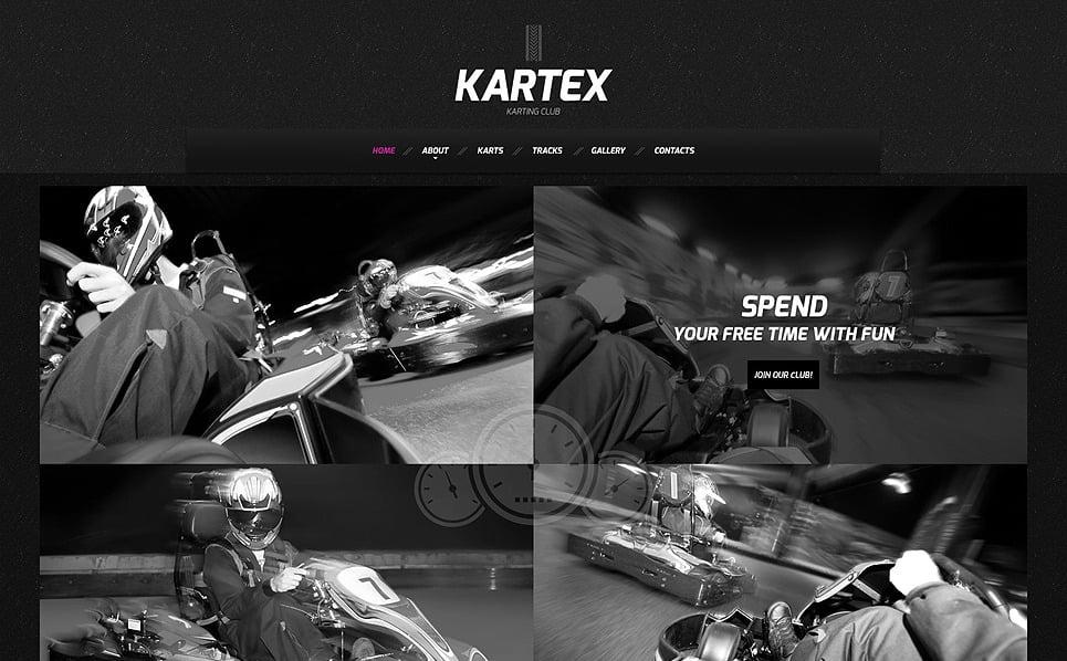 Responsive Website Vorlage für Gokartfahren  New Screenshots BIG