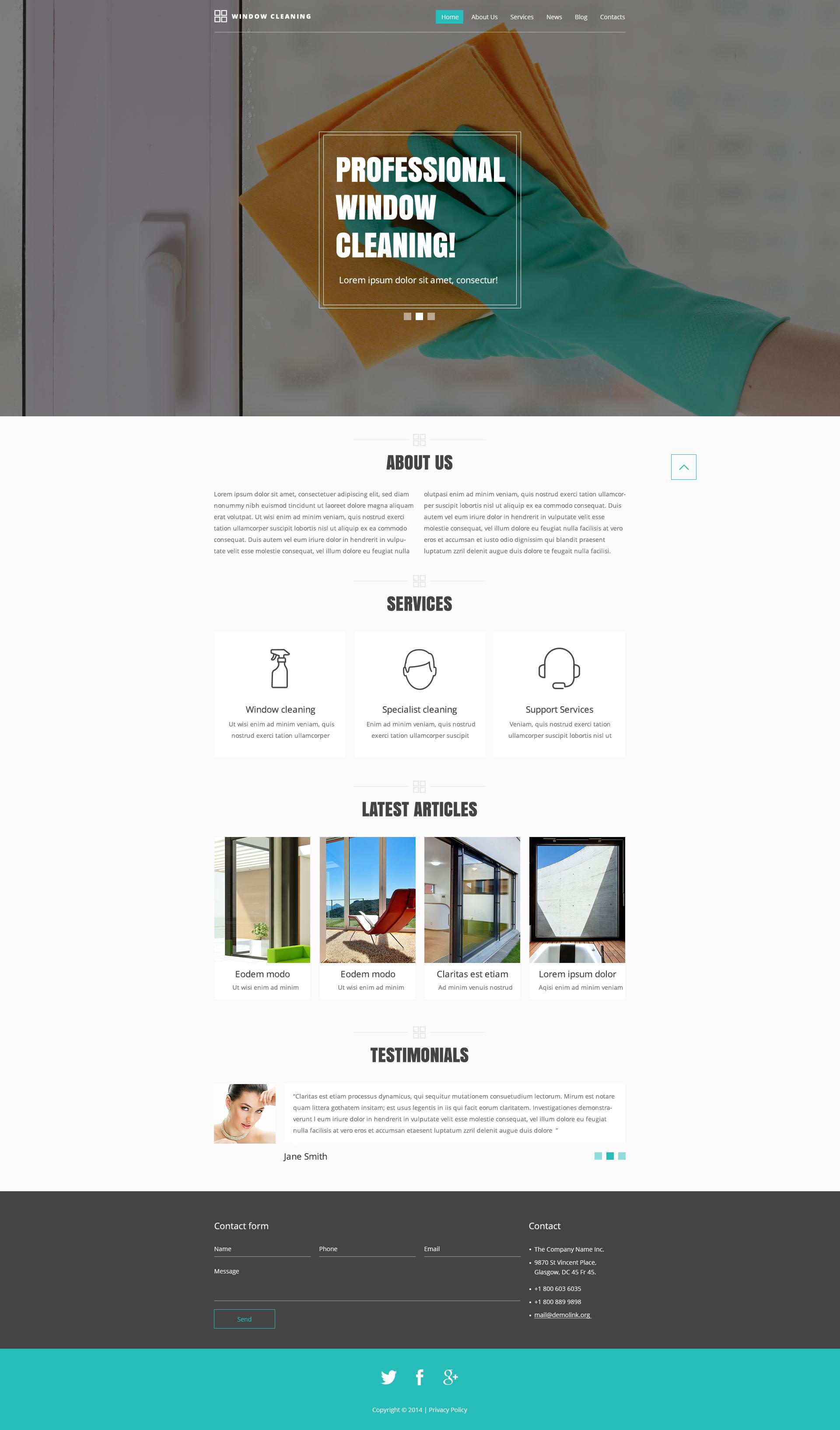 Website Vorlage #52092 für Reinigung
