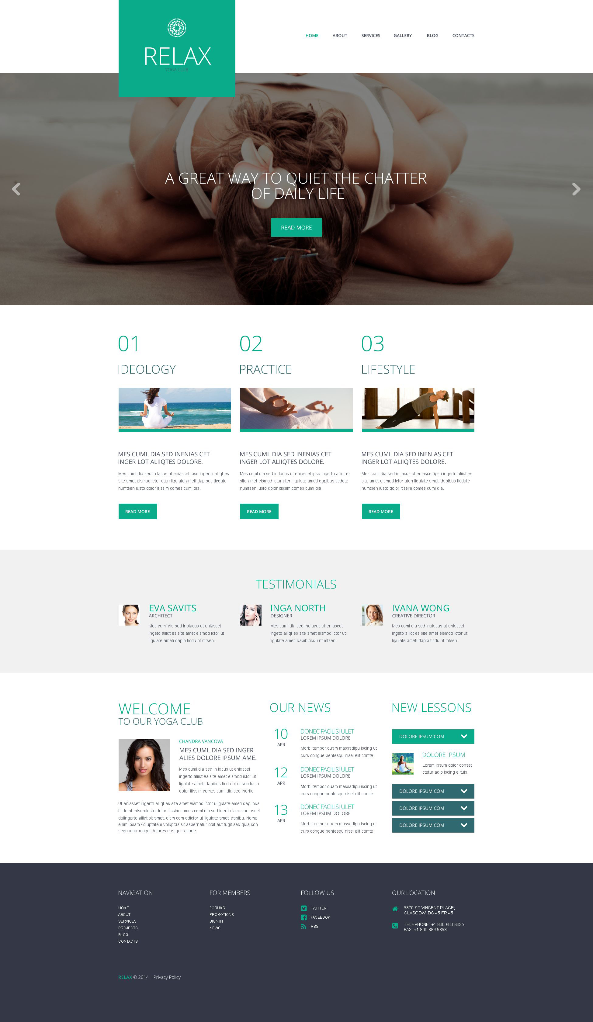 WordPress Theme #52053 für Yoga