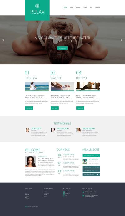 Responsives WordPress Theme für Yoga