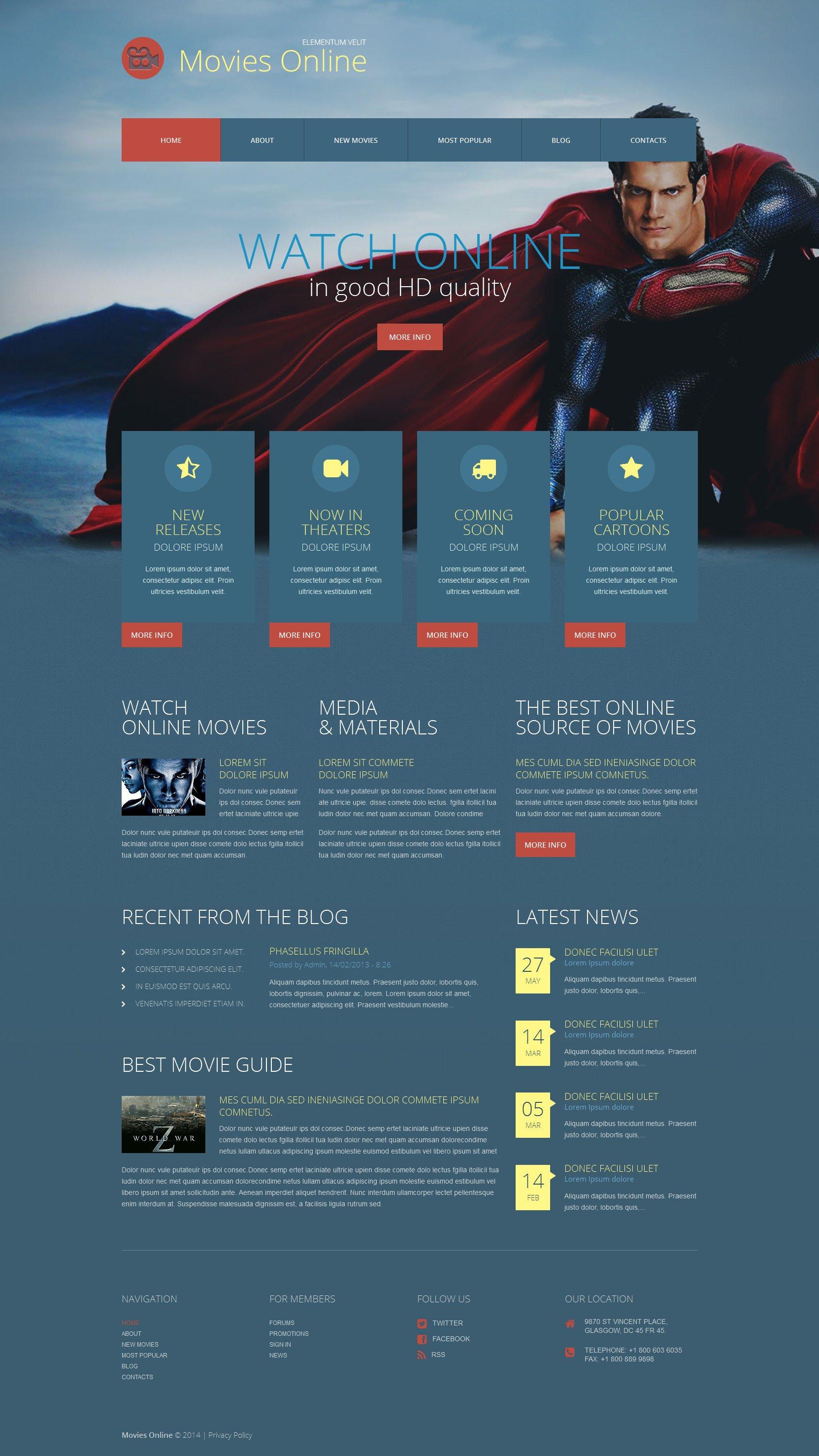 Responsywny motyw WordPress #52065 na temat: kino