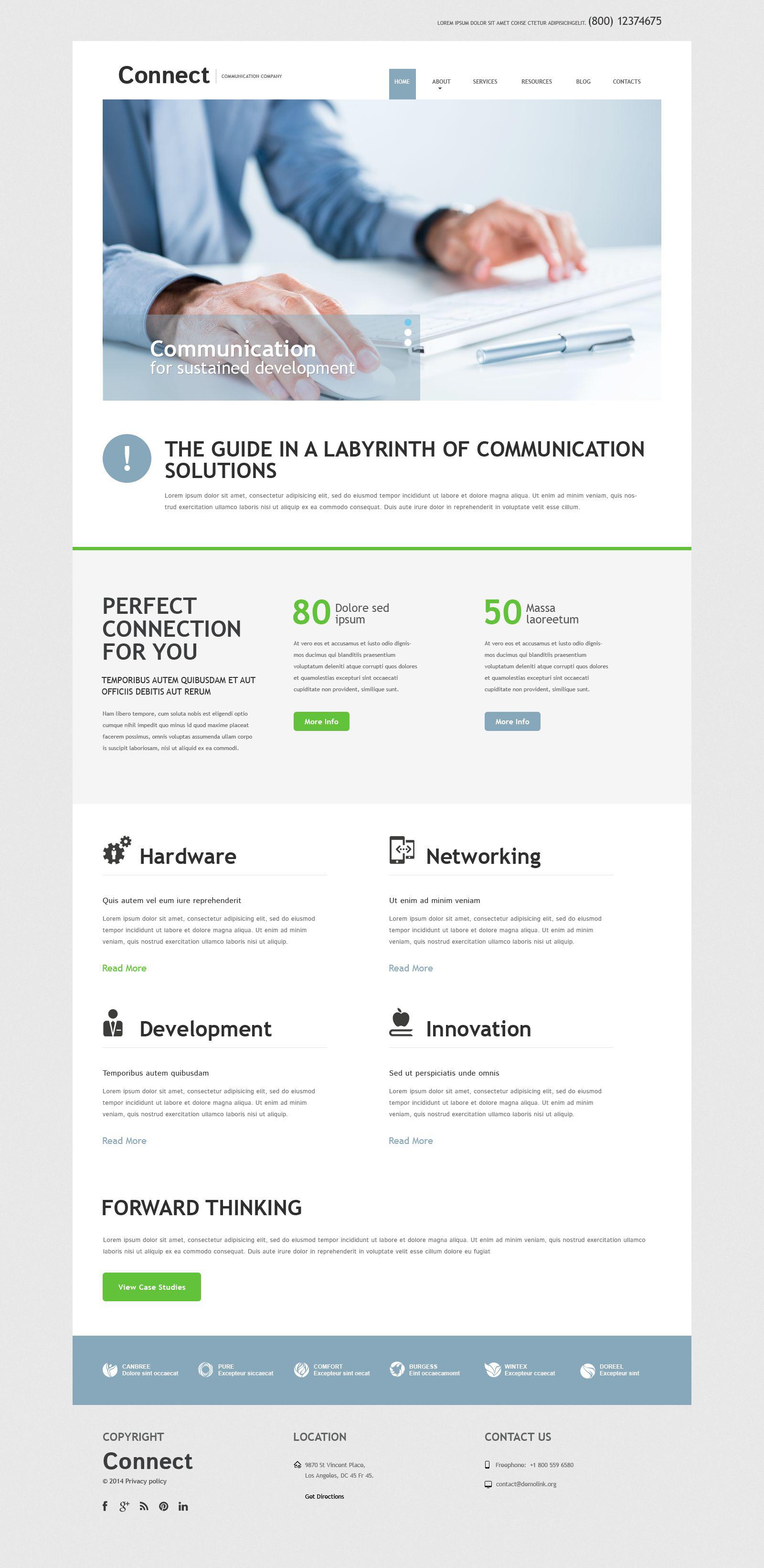 Responsywny szablon Joomla Communication Services #52029