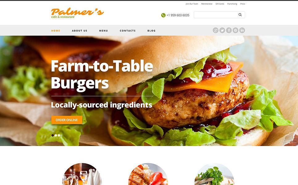 Responsywny szablon strony www #52005 na temat: kawiarnia i restauracja New Screenshots BIG