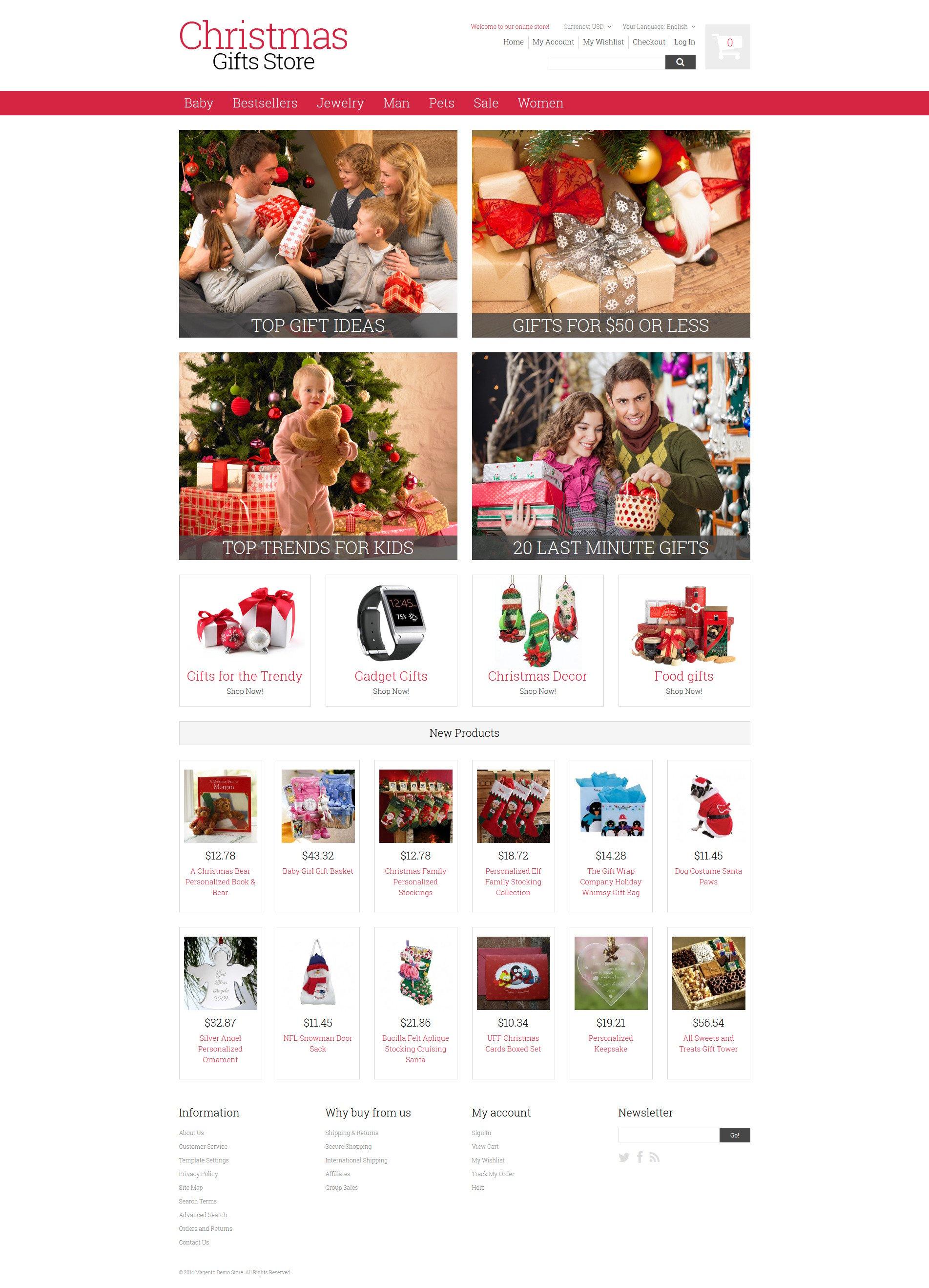 """Responzivní Magento motiv """"Christmas Gifts"""" #52015"""