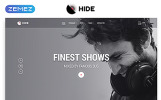 """Responzivní Šablona webových stránek """"HIDE - Online Radio Multipage Creative HTML"""""""