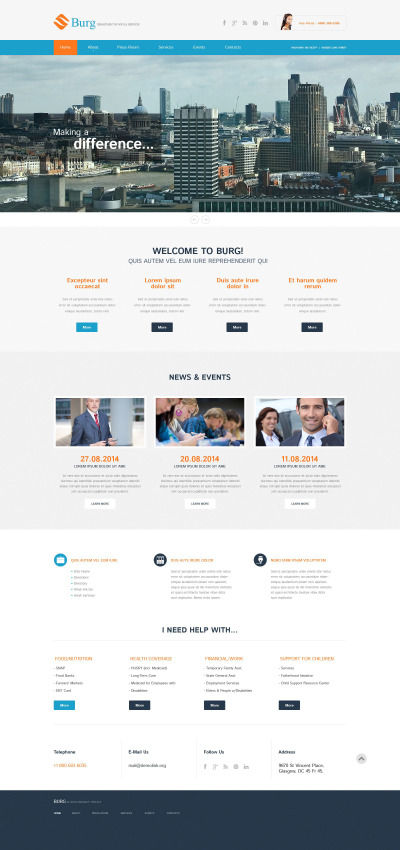 Accounting Website Responsive WordPress Motiv
