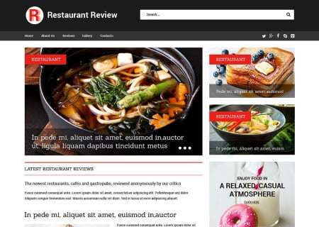 Restaurant Reviews Responsive