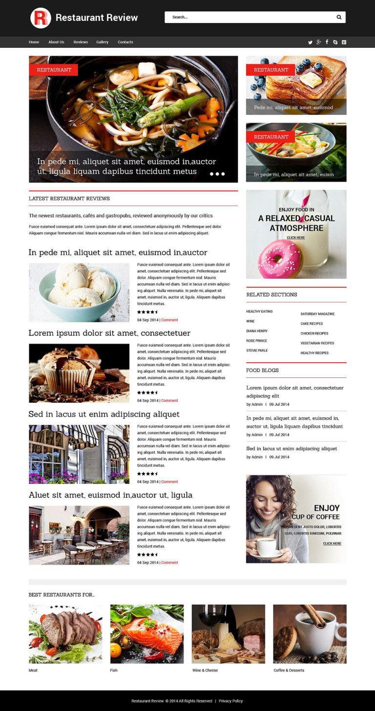 Restaurant Reviews Responsive Website Template New Screenshots BIG