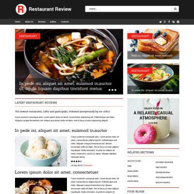 Restaurant Reviews Responsive Website Template #52021