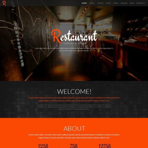 Restaurant - WordPress Template based on Bootstrap