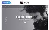 Reszponzív HIDE - Online Radio Multipage Creative HTML Weboldal sablon