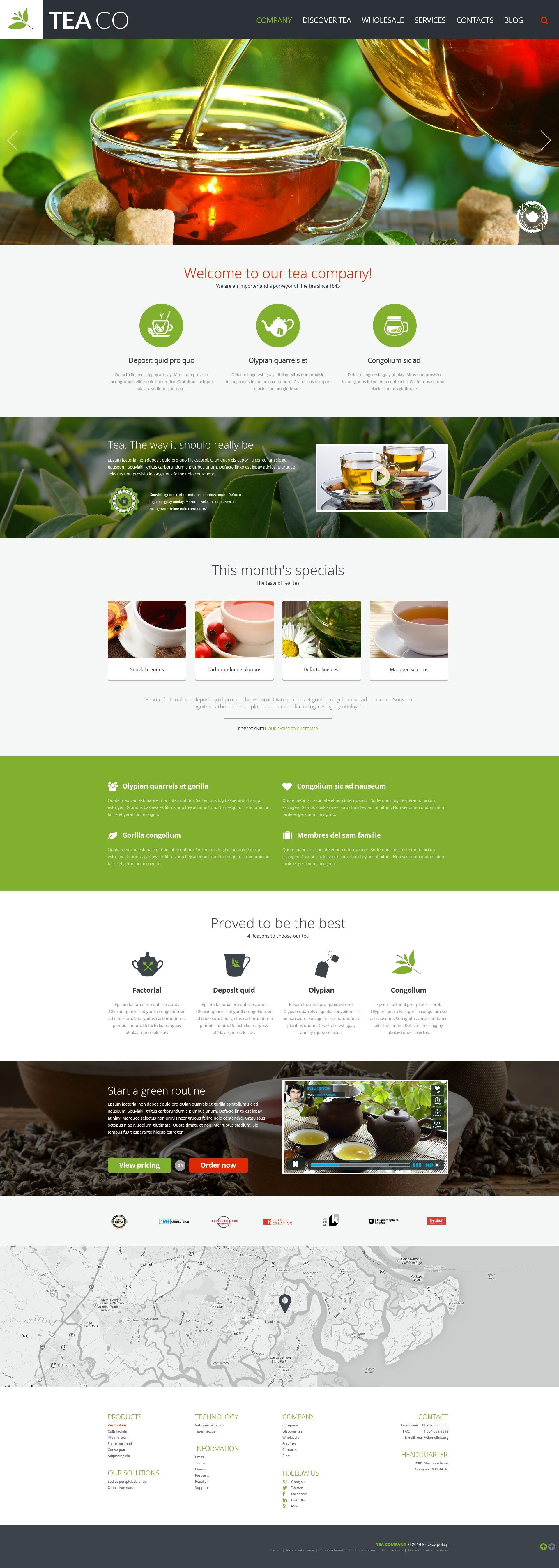 Reszponzív Teabolt Weboldal sablon 52093