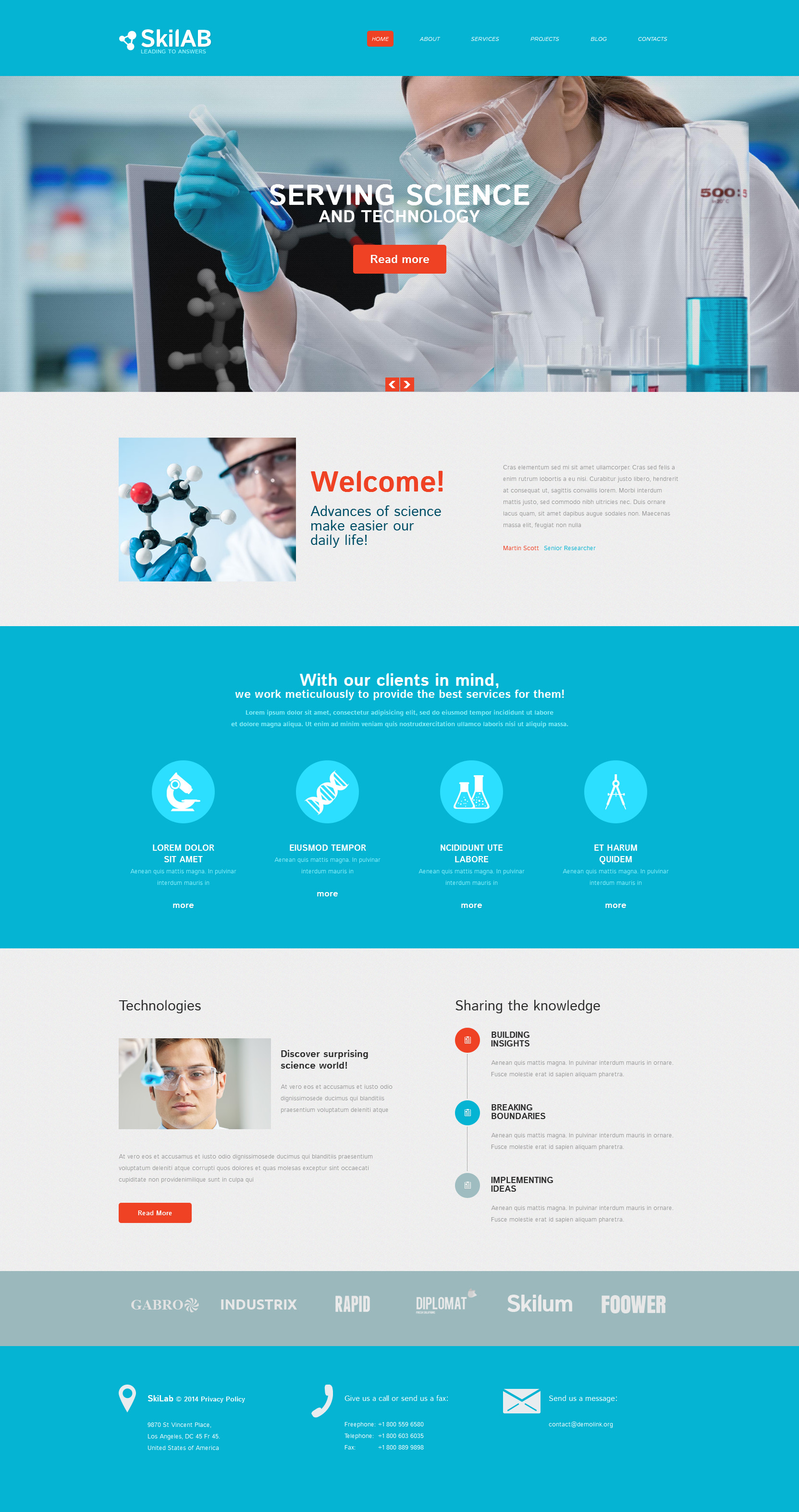 drupal 7 view template - science lab responsive drupal template 52016