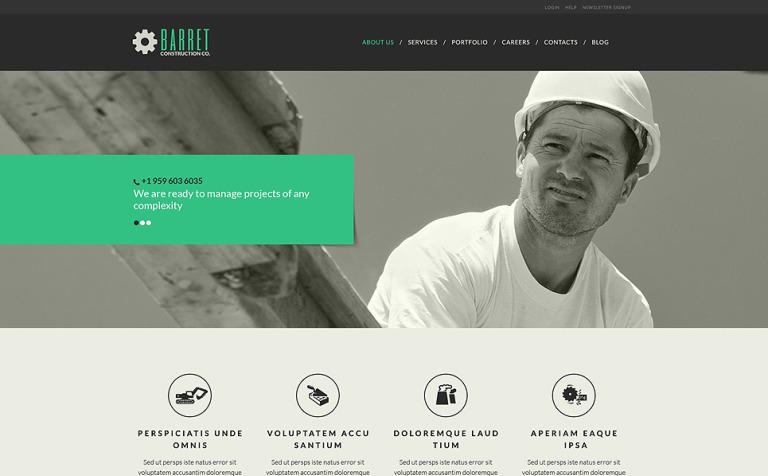 Tema de WordPress #52088 para Sitio de Empresas de construcción