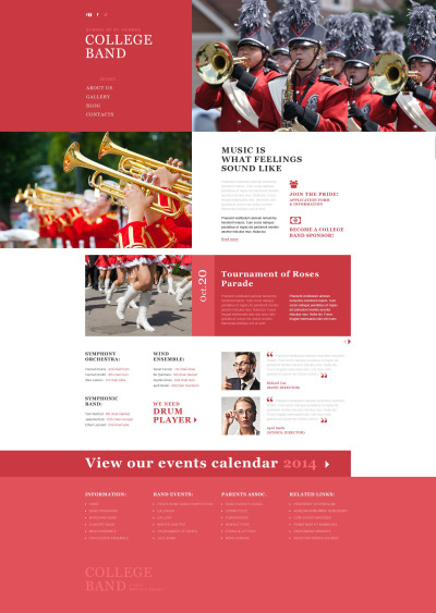 Music Band Responsive Template Siti Web