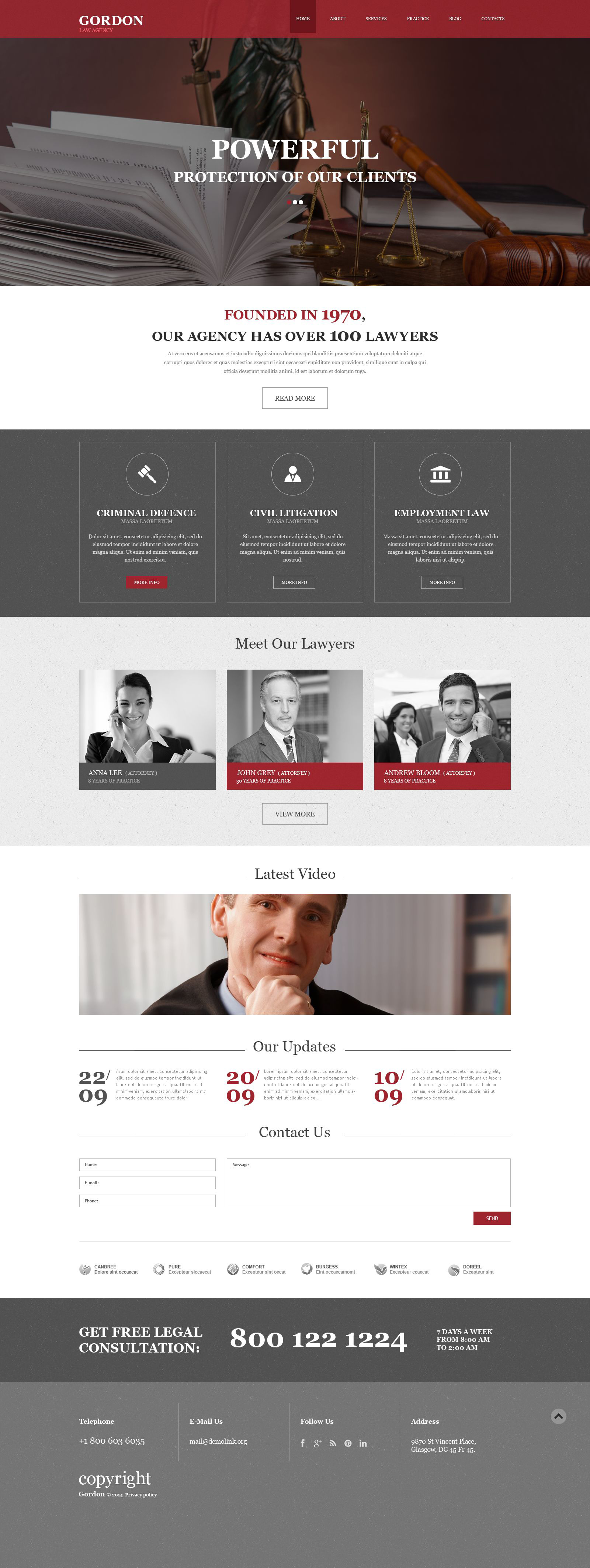 Template Muse para Sites de Escritório de Advocacia №52048 - captura de tela