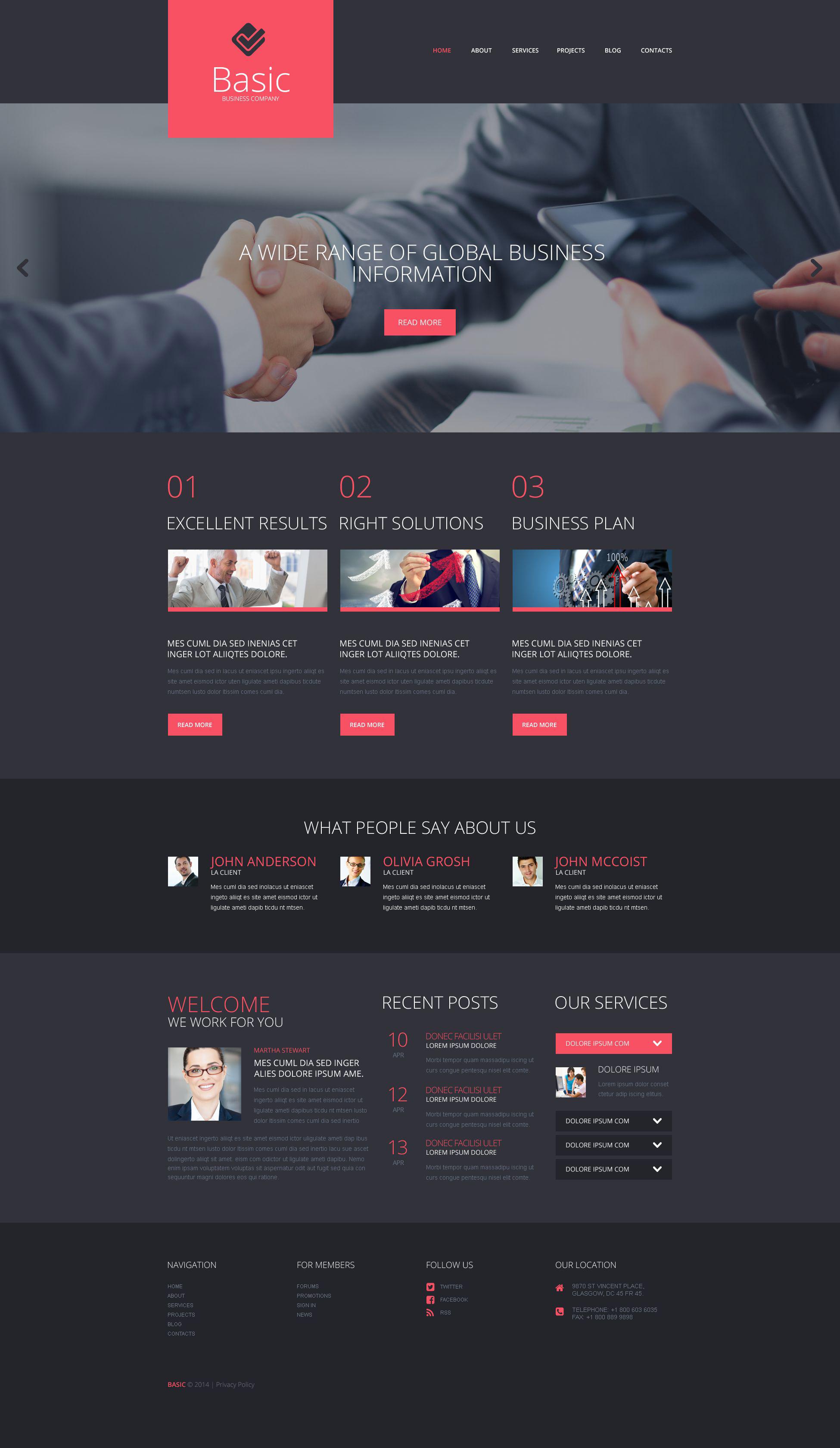Thème WordPress adaptatif pour site d'affaires et de services #52052
