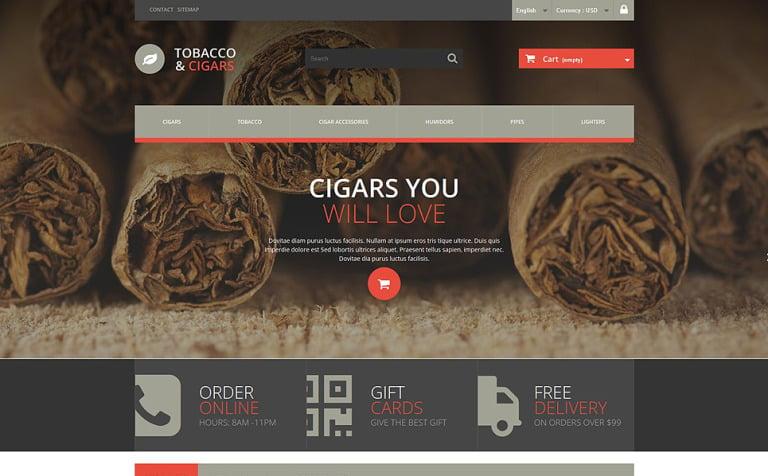 Tobacco and Cigars PrestaShop Theme
