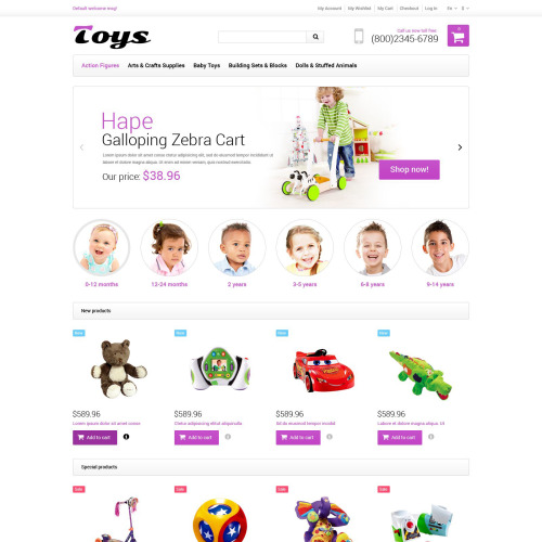 Toys   - Responsive Magento Template