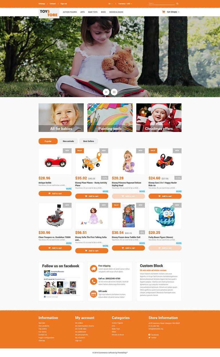 Toys for Kids PrestaShop Theme New Screenshots BIG