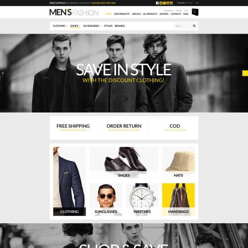 Men's Fashion - HTML5 ZenCart Template