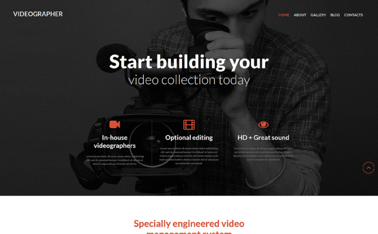 Videographer Services Joomla Template