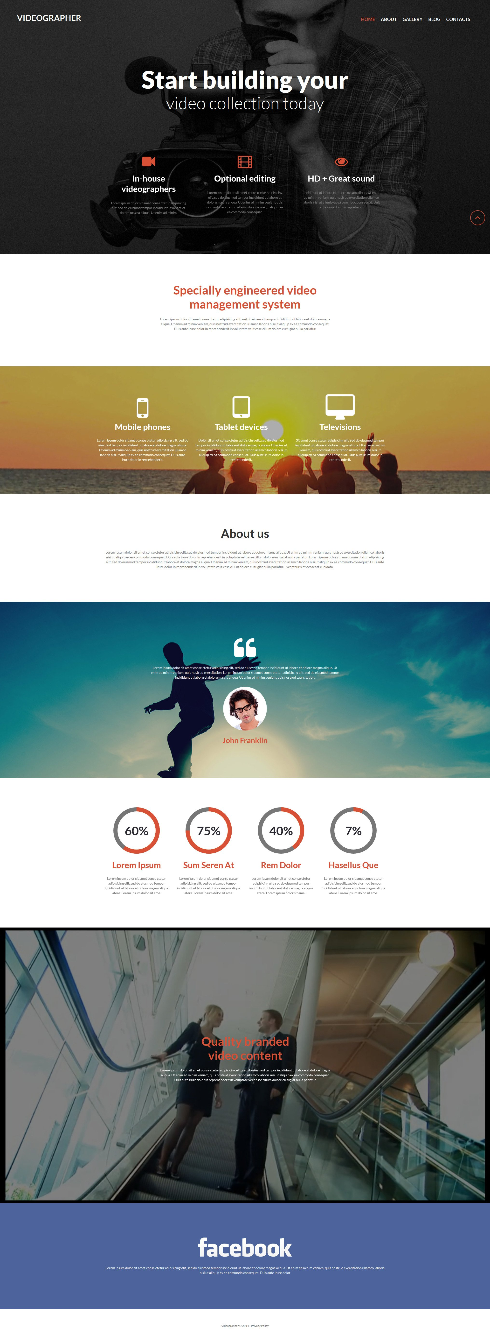 Videographer Services Template Joomla №52024 - captura de tela
