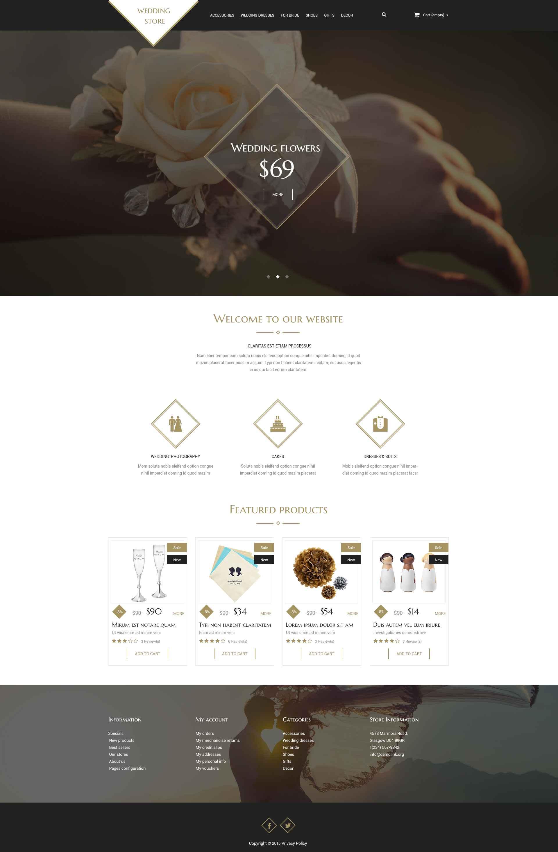 Wedding Shop PSD Template - screenshot
