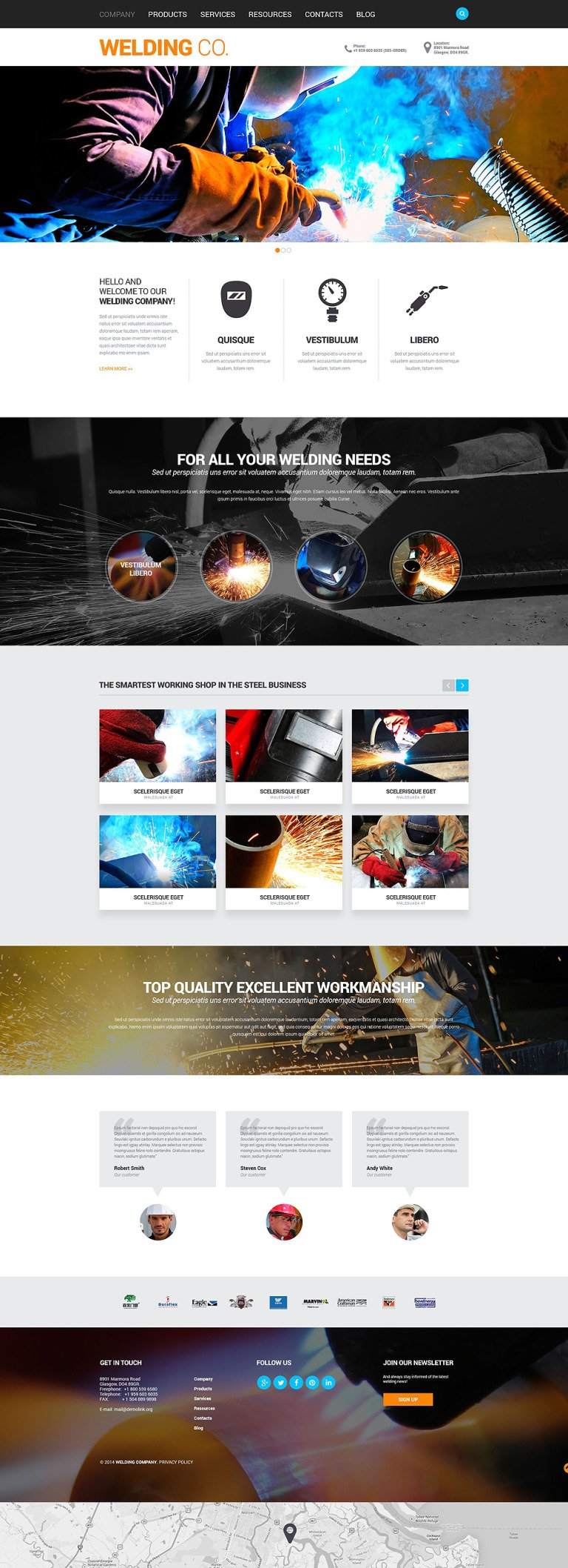 Welding Responsive Website Template New Screenshots BIG