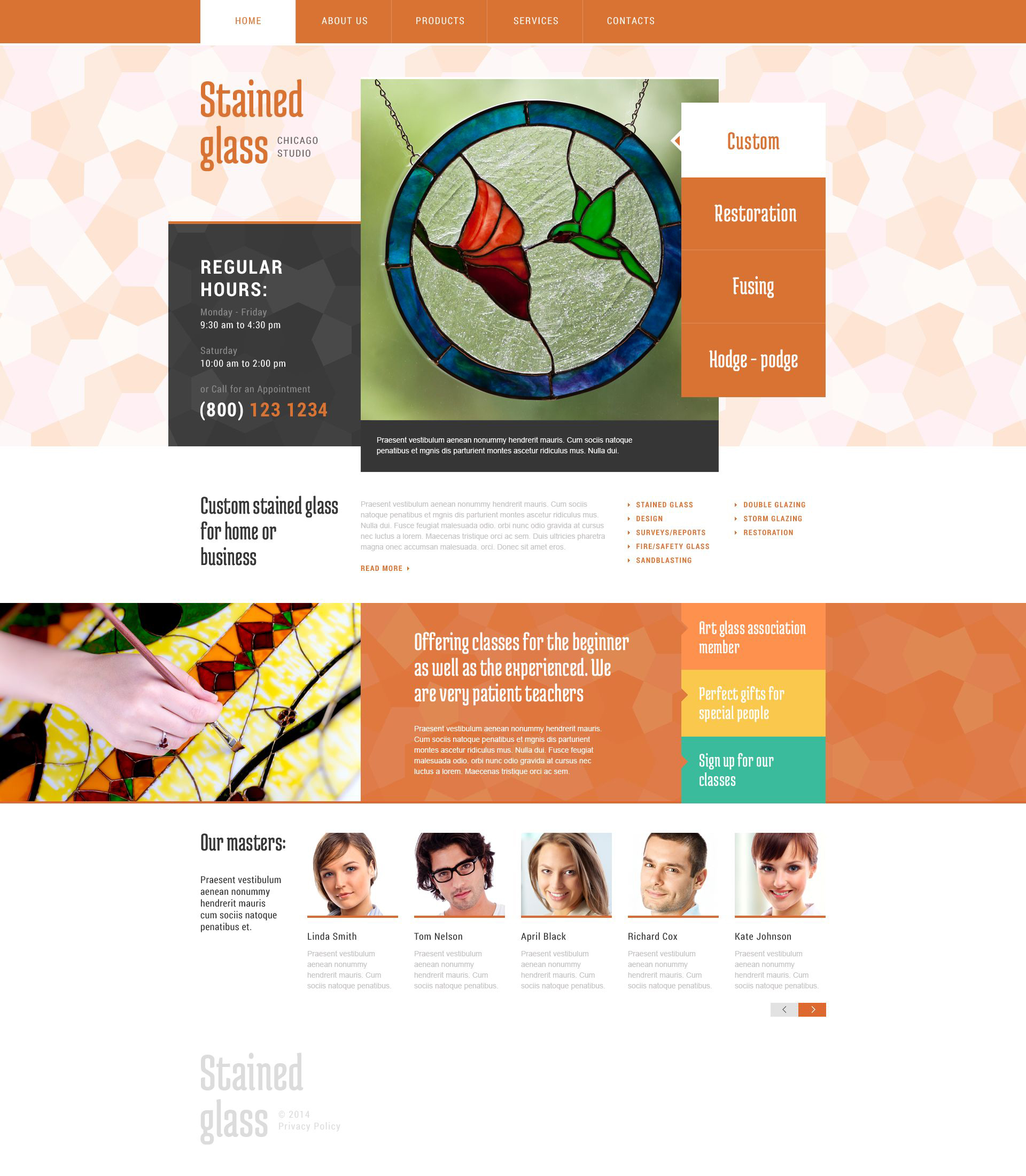 Window Decor Website Template - screenshot