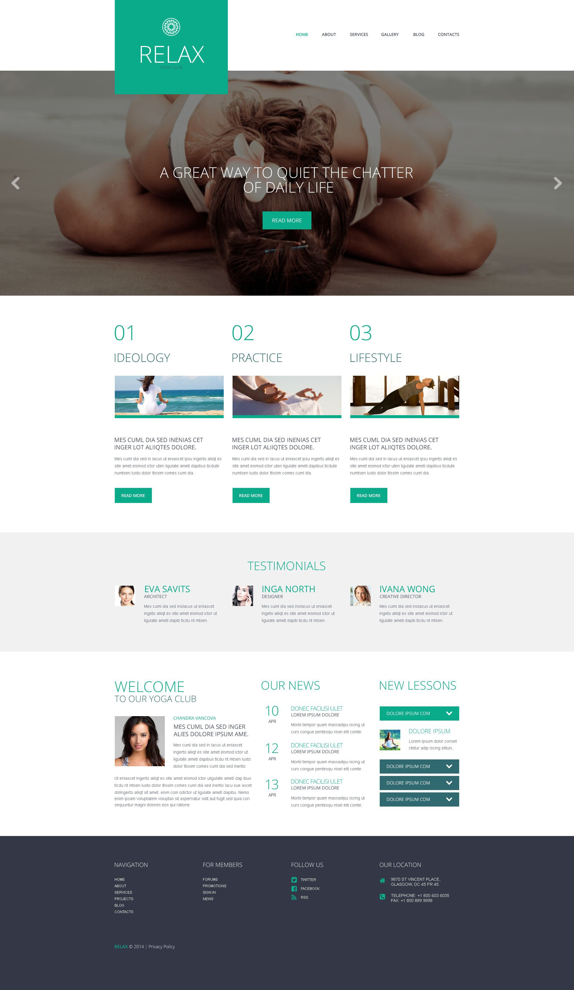 Yoga Responsive WordPress Theme