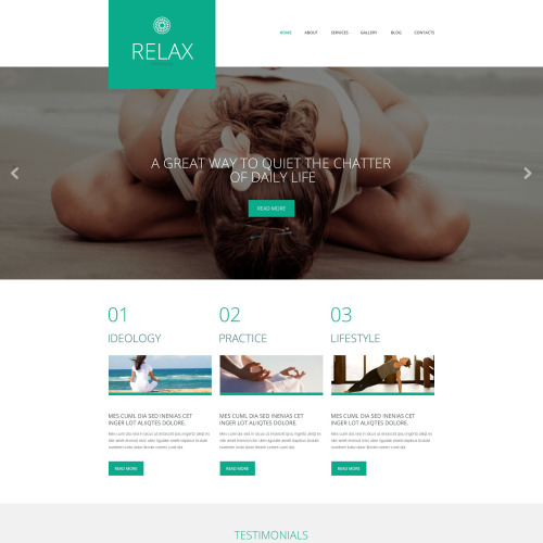 Relax - WordPress Template based on Bootstrap