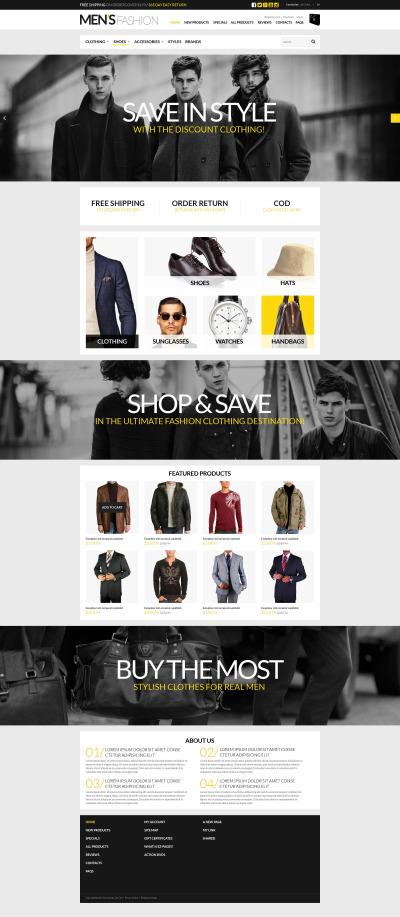 ZenCart Vorlage für Mode-Shop