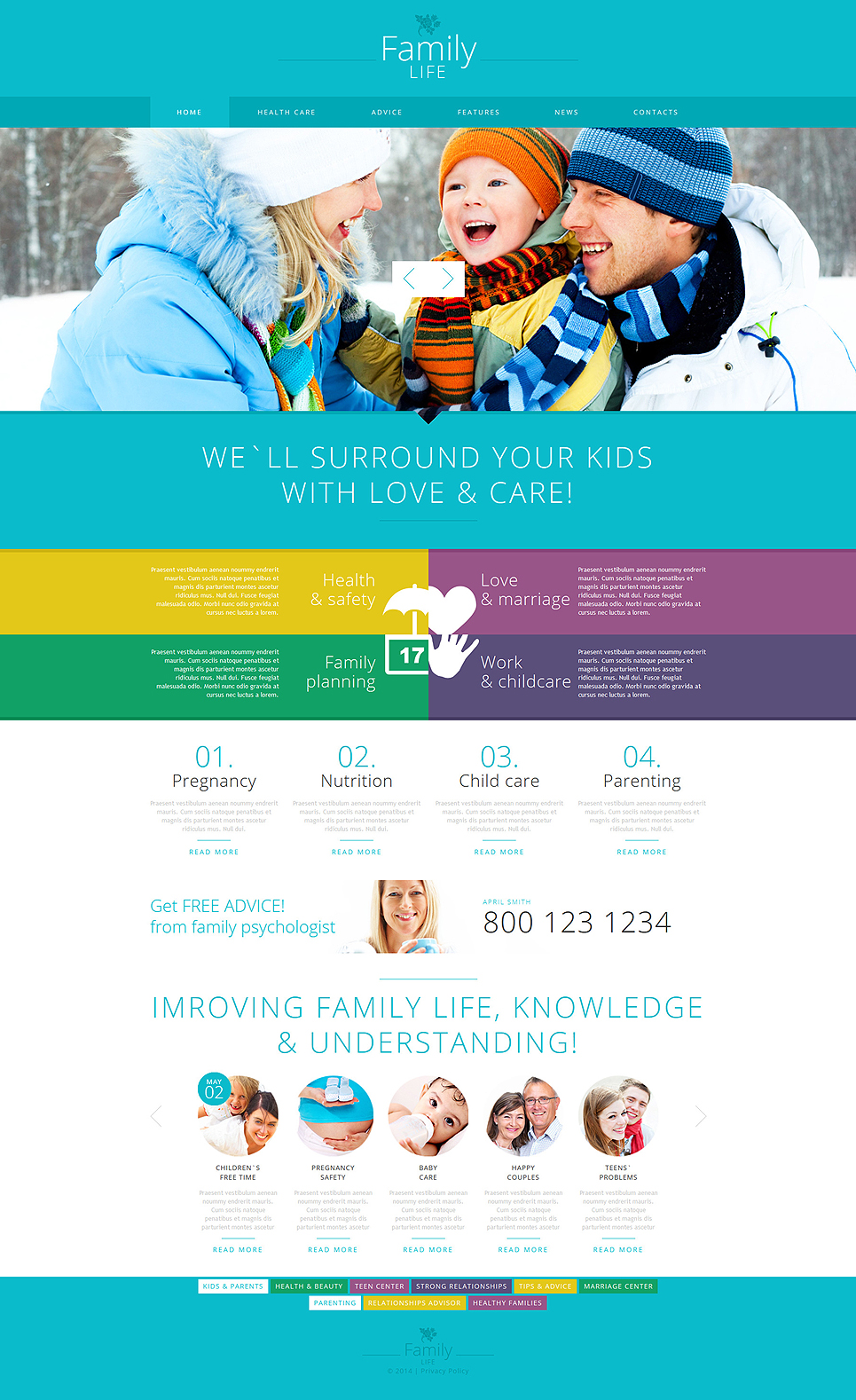 joomla org templates - family center responsive joomla template 52100 by zemez
