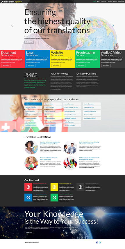 Joomla Theme/Template 52101 Main Page Screenshot